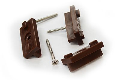 Brown Decking Clips (100pk)