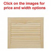 Radiata Pine Louvre Doors (Height 18 / 455mm)